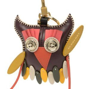 Burberry Leather Owl key ring and bag carm
